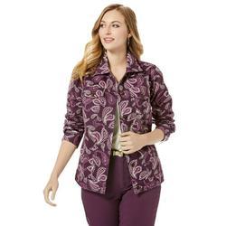 Jessica London Women's Plus Size Classic Cotton Denim Jacket 100% Cotton Jean Jacket
