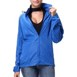 FOCUSSEXY Women's Hooded Rain Jacket Waterproof Windbreaker Hooded Rain Outdoor Poncho Running Jackets Womens Raincoat Packable Hooded Shirt Quick Dry