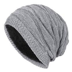 LA HIEBLA Unisex Winter knitted Beanie Solid Hat Lint Cap