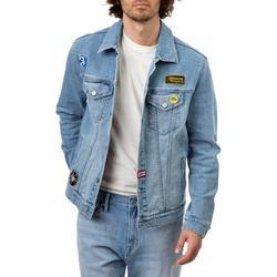Jordache Vintage Men's Nash Patches Denim Jacket, Sizes S-2XL, Men's Denim Jean Jackets