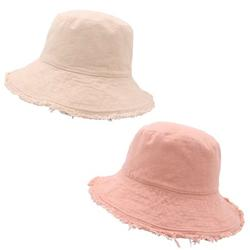 2 PACK of TRENDY CUTE BUCKET HATS! - Bucket Hats for Women - Bucket Hats for Teens Girls - BUCKET HAT AESTHETIC - Two Bucket Hats! (Rose & Cream)