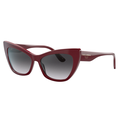 DOLCE & GABBANA DG4370 3091/8G Sunglasses Bordeaux Frame Grey Gradient Lens 56