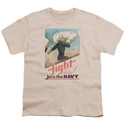 Navy - Fight Lets Go - Youth Short Sleeve Shirt - X-Large