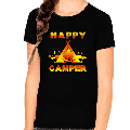 Camping Shirt for Girls - Camping Clothes for Girls - Happy Camper Camping Shirts for Kids Funny