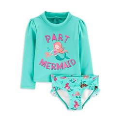 Child of Mine by Carter's Baby Toddler Girl Rash Guard Two Piece Swimsuit