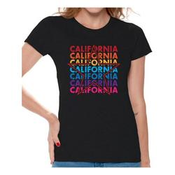 Awkward Styles California Star Women Shirt Gifts for Women 80s T shirt for Women San Francisco California State Women Tshirt I Love California United States T-shirt for Women Los Angeles