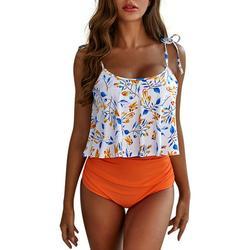 Women Sexy Bikini Set High Waisted Swimsuits Bottom Flounce Swimwear Bathing Suit Beachwear Ladies Girls Swimming Costumes Bathing Suit Bikini Tankini Sets Monokini