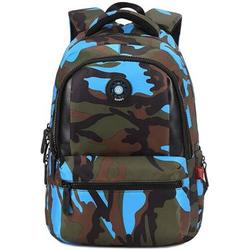 Camouflage Printed Unisex School Backpack Rucksack Leisure Backpack for Travel Hiking Camping School Mountaineering Hiking, blue