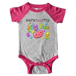 Inktastic Aunties Little Jellybean Cute Easter Candy Infant Short Sleeve Bodysuit Unisex