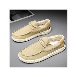 Avamo Men's Casual Shoes Canvas Loafers Slip On Shoes Round Toe Casual Loafers Mens Shoes