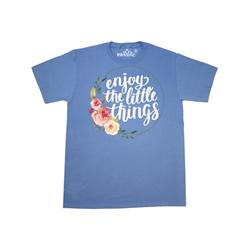 Inktastic Inspirational Quote Enjoy the Little Things Hand Lettering Adult T-Shirt Male