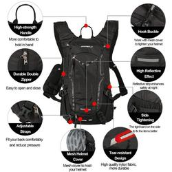 Cycling Rucksack, 18L Waterproof Bike Backpack Breathable and Lightweight Running Backpack for Fitness Running Hiking Climbing Camping Skiing Biking Trekking