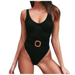 TANGNADE swimsuit women's body skirt swimsuit sexy shade swimwearFashion Womens Solid Color Bikini Push-Up Pad Swimwear Swimsuit Beachwear Set