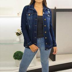 Women Ripped Jean Coats Jacket Vintage Casual Denim Jackets