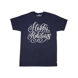 Inktastic Christmas Happy Holidays Hand Lettering in White Adult T-Shirt Male