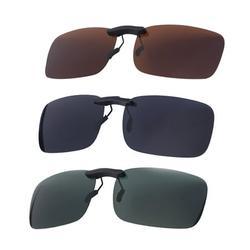 HOMEMAXS 3PC Myopia Sunglasses Polarized Clip Driver Glasses Clip Polarized Glasses Sunglasses Clip (Gray Film