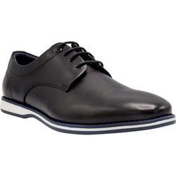 NINE WEST Mens Casual Shoes I Oxford Shoes for Men I Mens Walking Shoes I Business Casual Dress Shoes for Men with Fashion Midsole Stripe Design I Mathias