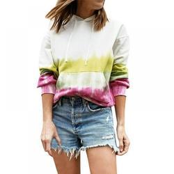 Fall and Winter Women's Fashion Loose Casual Print Hooded Sweatshirt Ladies Shirts, Ladies Jackets Sweater Tops Casual Shirts Hot Sweaters Winter Sweaters Casual Sweaters Women's Hoodie