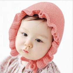 HULKLIFE Spring Newborn Baby Hat Handmade Knitting Hats Fashion Monolayer Ruffle Warmer Caps Kids Hats