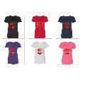 Pepper Red Lips Sexy Hot Printed VNECK Lady T-Shirt Short Sleeve T-Shirt Soft and Comfy Shirt, Lightweight Shirt Tee Color Red Small