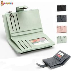 "Spencer Women Handbag Leather Wallet Large Capacity Credit Card Holder Bifold Purse Clutch Handbag ""Green"""