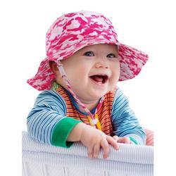 SimpliKids Baby Sun Hat Toddler Sun Hat Hats for Baby Girls Packable Sun Hat for Baby Baby Girl Sun Protection Hats for Summer Baby Girl Hat, Pink Camo, 12-24 Months