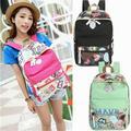 UK Fashion Women Canvas Travel Satchel Shoulder Bag Backpack School Rucksack