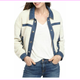Calvin Klein Jeans Women's Sherpa Jean Jacket with Denim Trim Size L