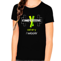 Funny Novelty Competitive Celery Cool Shirts for GIRLS YOUTH - KIDS Retro Vintage Graphic Tees