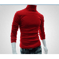 Binpure Fashion Mens Roll Turtle Neck Pullover Knitted Solid Casual Jumper Tops Tee Sweater
