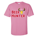 New BEER HUNTER T-SHIRT/TEE Humor Deer Novelty College Dad Bro Hunting Gun