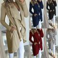 US Women Ladies Long Coat Long Sleeve Loose Outcoat Outwear Casual Jean Jacket
