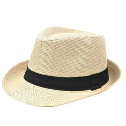 Famure Hat Korean Style Straw Weaving Hat Edge Lovers Cap British Style Papyrus Hat Jazz Hat Men's Outdoor Beach Hat Children's Hat
