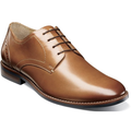 Nunn Bush Fifth Ward Flex Plain Toe Oxford Shoes Cognac Leather 84815-221