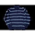 Polo Jeans by Ralph Lauren Men's Quarter-Zip Cotton Sweater, Navy / White Stripe, Size M, Defect