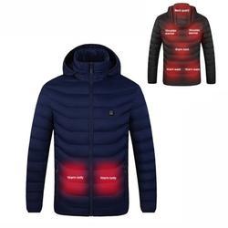 Cotton Jacket Men Women Winter Jackets Detachable Cap Warm Body Warmer Heating Jacket Heated Hoodie Electric Heated Coat