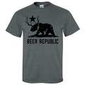 New CALIFORNIA BEAR PLUS DEER EQUALS BEER T-SHIRT/TEE Republic CA Cali Cool