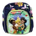 Disney Fairies Tinker Bell and Friends Blue/Green Floral Mini Backpack (10in)
