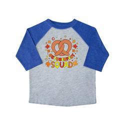 Inktastic Oktoberfest Squad Fall Leaves Pretzel Toddler Short Sleeve T-Shirt Unisex Heather and Royal 2T