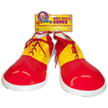 Child Clown Shoes Jumbo Shoe Covers Red & Yellow Boys Kids One Size Costume Accessories