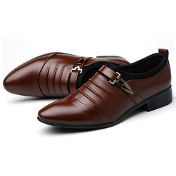 New Men Pu Leather Shoes Formal Comfortable Flat Pointed Toe Casual Shoes Shoes