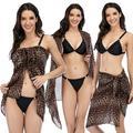 Womens Swimwear Cover up Chiffon Beach Dress Multipurpose Sarong Pareo Swimsuit Wrap Sarong Dress