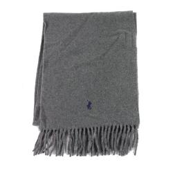 Charcoal One Scarf Cashmere Fringe-Trim Not Applicable