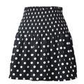 Women's High Waist Flared Ruffle Skirt Cute Floral Swing Beach Mini Short Skirts Dot Pleated Skirt