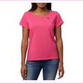 Puma Ladies Keyhole Short Sleeve Tee, Pink , Size S