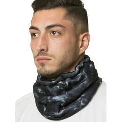 Aqua Design Neck Warmer Men Gaiter: Winter Cold Weather Camo Fleece Face Mask: Black Water