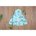 Kids Girls Fashion Rainbow Print Hoodie Casual Long Sleeve Zipper Top for Children Baby Girls