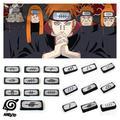 Naruto Akatsuki Uchiha Itachi Pain Sharingan Cosplay Props Headband Kakashi Konoha Symbol Headwear Armband Party Wristband Toys