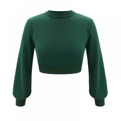 Winter sweate Ladies Fashion Casual Solid Color Round Neck Short Long Sleeve Top Women Sweater women shirt women top casual shirt