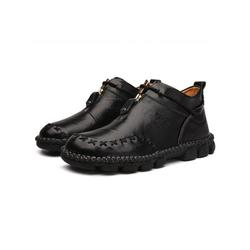 Avamo Men's Boots Warm Slip on Casual Shoes Loafers Fashionable Zipper Ankle Booties Business Boots for Men